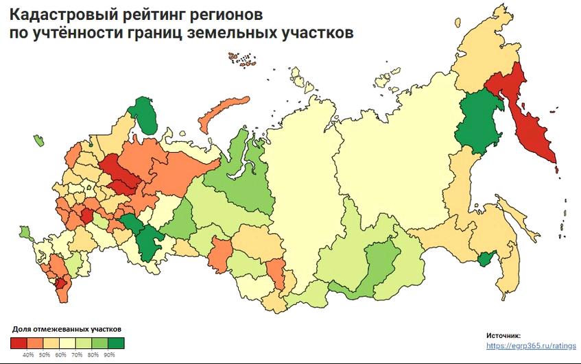 Половина земельных участков в Белгородской области не имеют точных границ